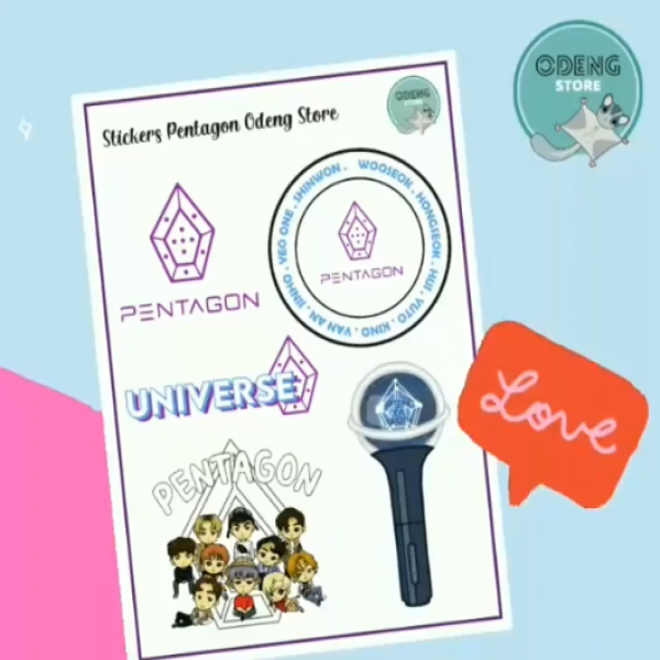 Lamina Sticker PENTAGON