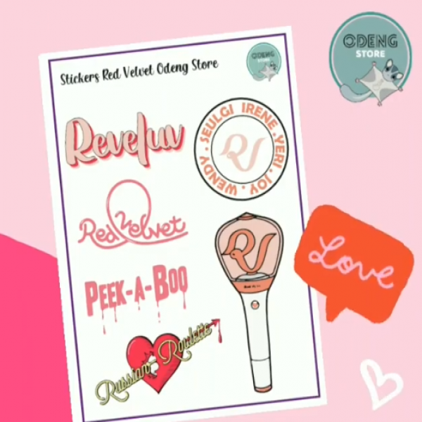 Lamina Sticker Red Velvet