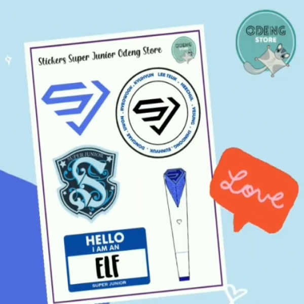 Lamina Sticker Super Junior