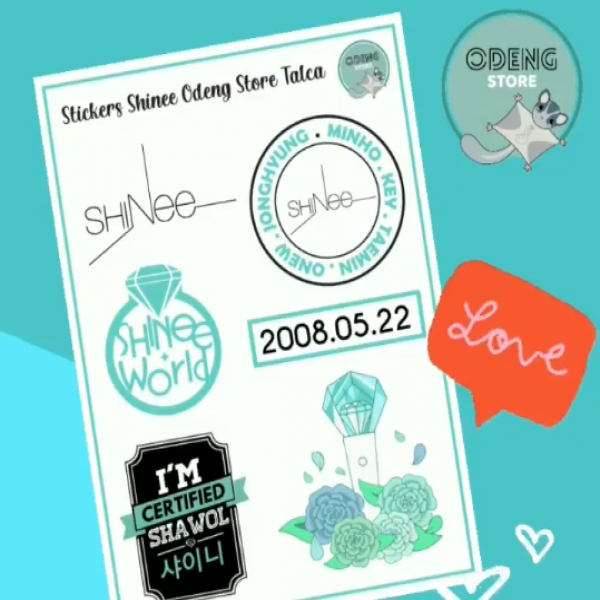 Nuevos Stickers Shinee ODENGSTORE.