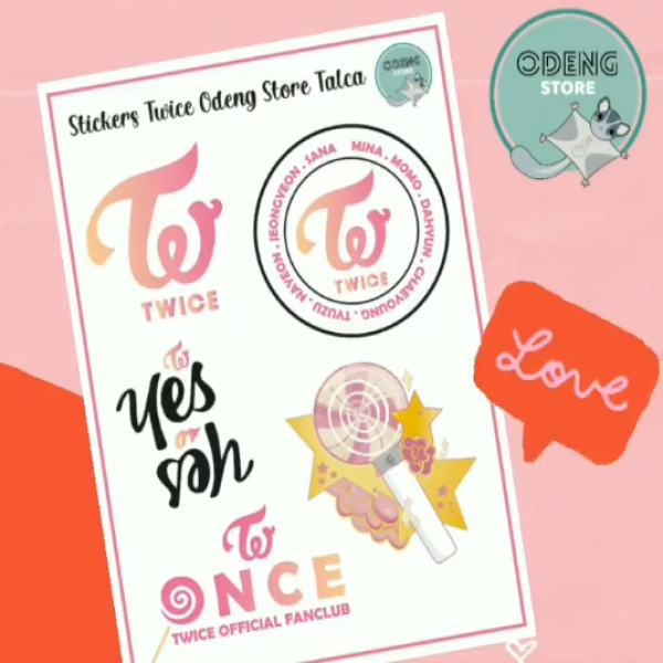 Nuevos Stickers TWICE ODENGSTORE