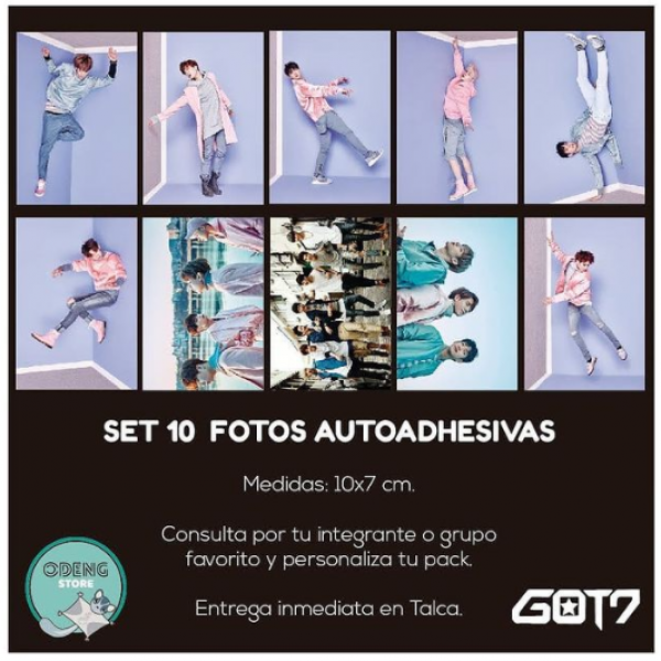 SET 10 FOTOS AUTOADHESIVAS GOT7