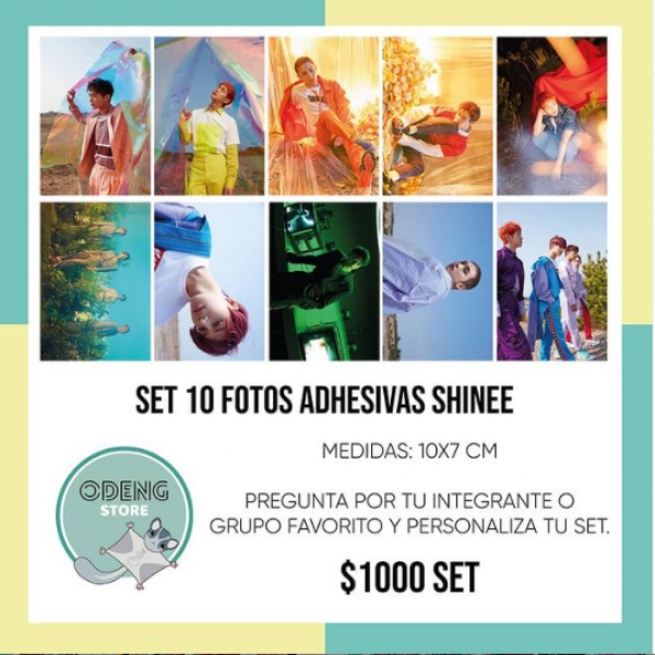 SET 10 FOTOS AUTOADHESIVAS SHINEE