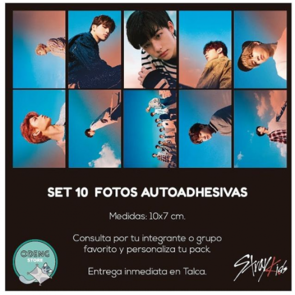 SET 10 FOTOS AUTOADHESIVAS STRAY KIDS